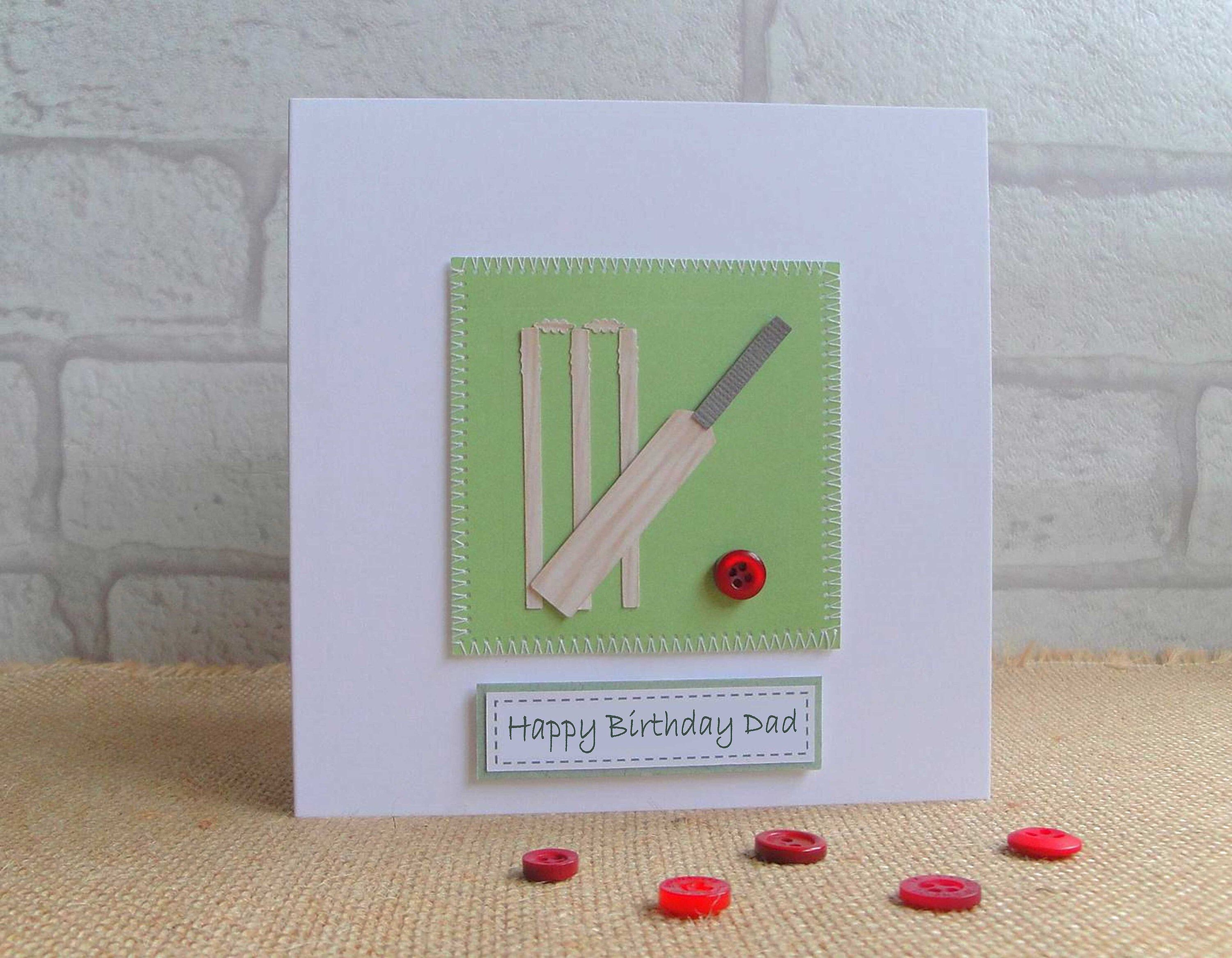 Father S Day Cricket Card Cricket Enthusiast Birthday Card 18th Birthday Card For Cricket Lover Retirement Card Go Well Card Kids Birthday Cards Handmade Birthday Cards 18th Birthday Cards