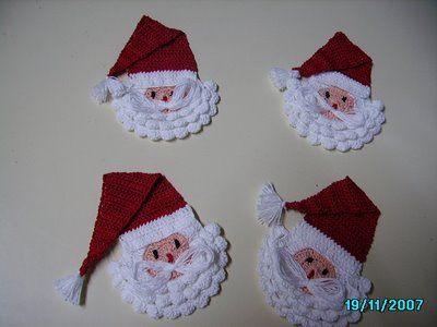 Caras de papanoel en crochet crochet pinterest caras - Adornos navidenos ganchillo patrones ...