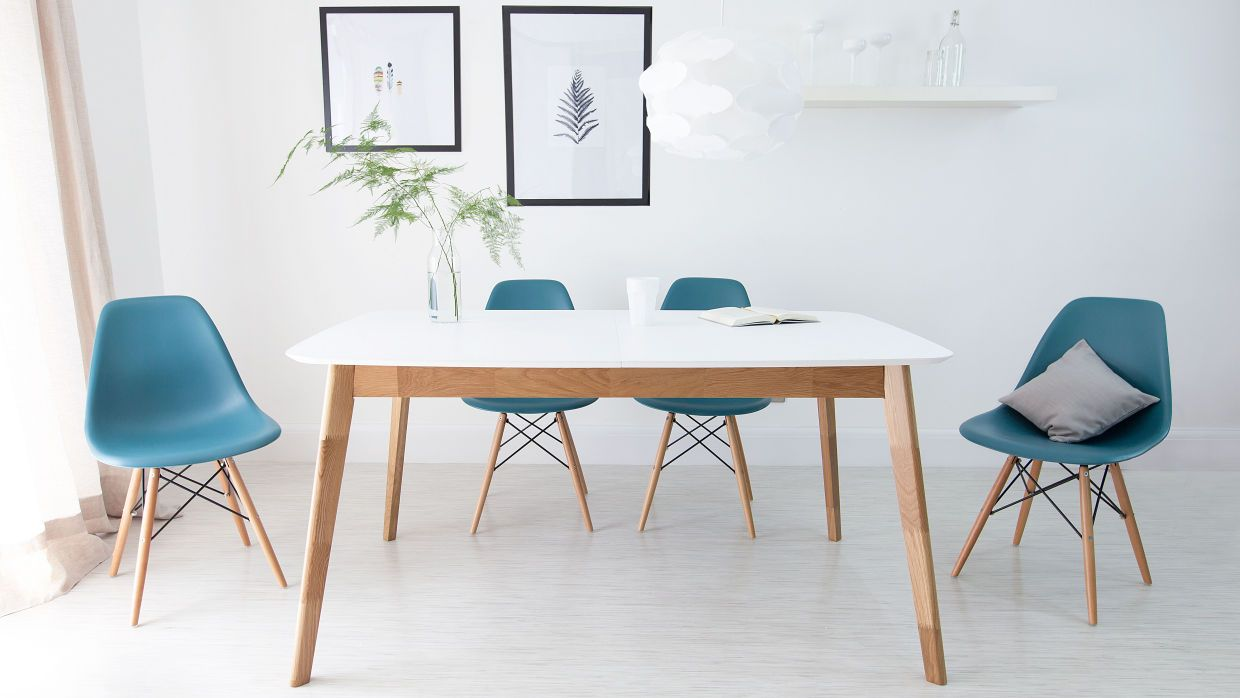 White Extending Table 2019 Color Trends