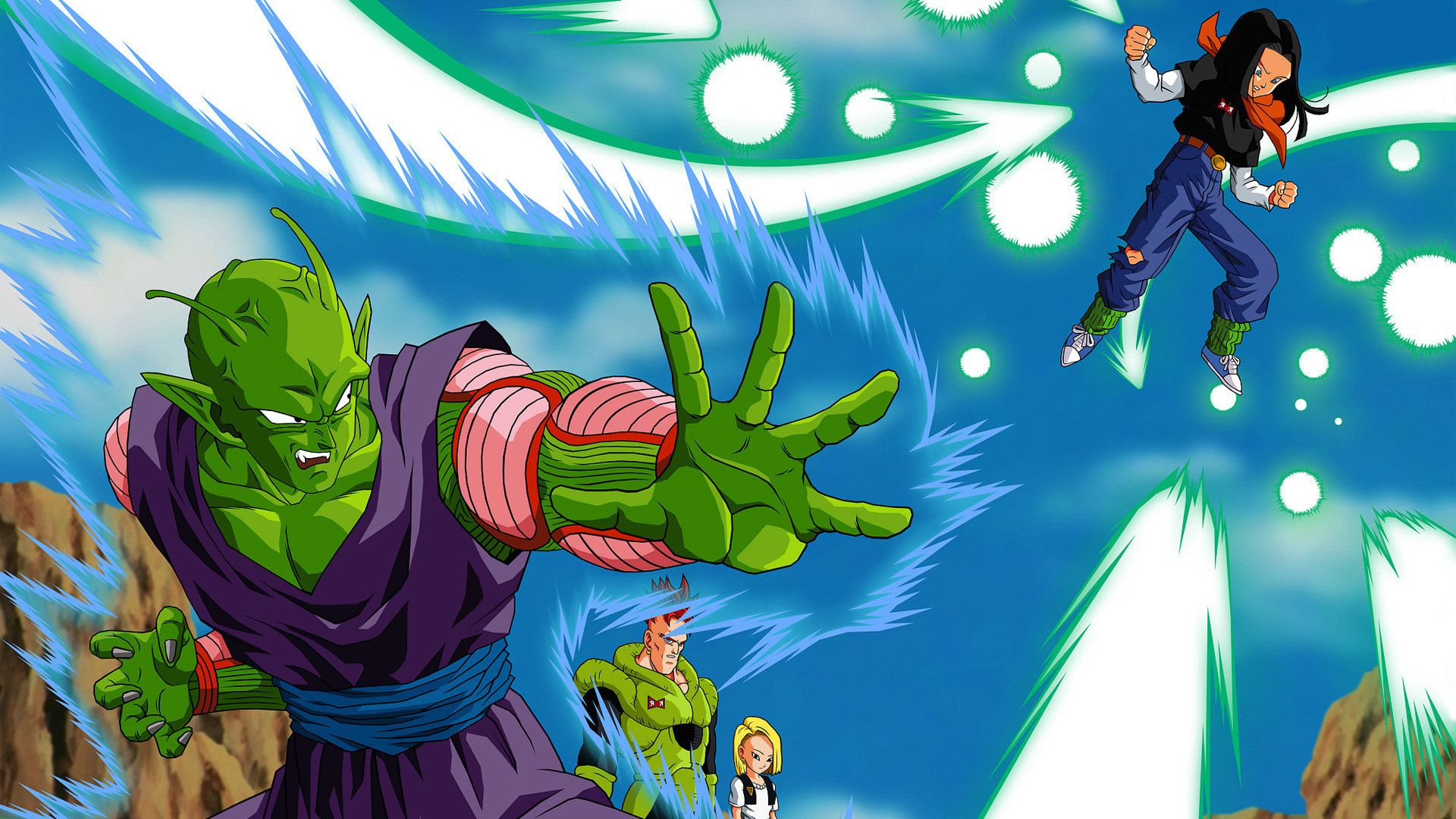 Free dragon ball z piccolo versus android 17 computer - Free dragonfly wallpaper for android ...