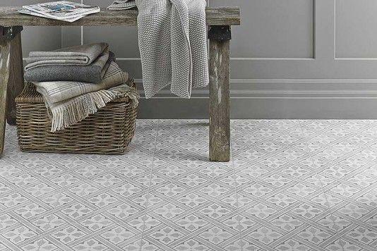 Devon Stone Black Feature Floor Tile 33x33cm In 2019: Laura Ashley Mr Jones Dove Grey Wall & Floor Tiles 33x33cm