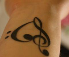 heart music tattoo
