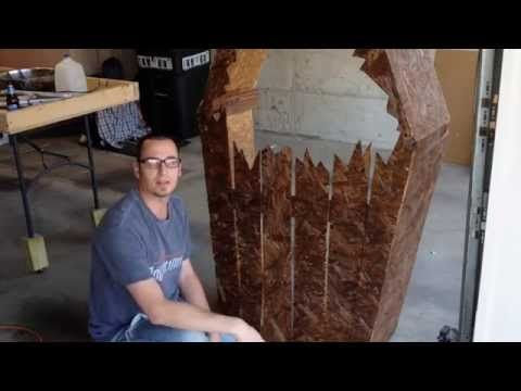 How to Make a Halloween Graveyard Fence and Coffin - YouTube - how to make halloween decorations youtube