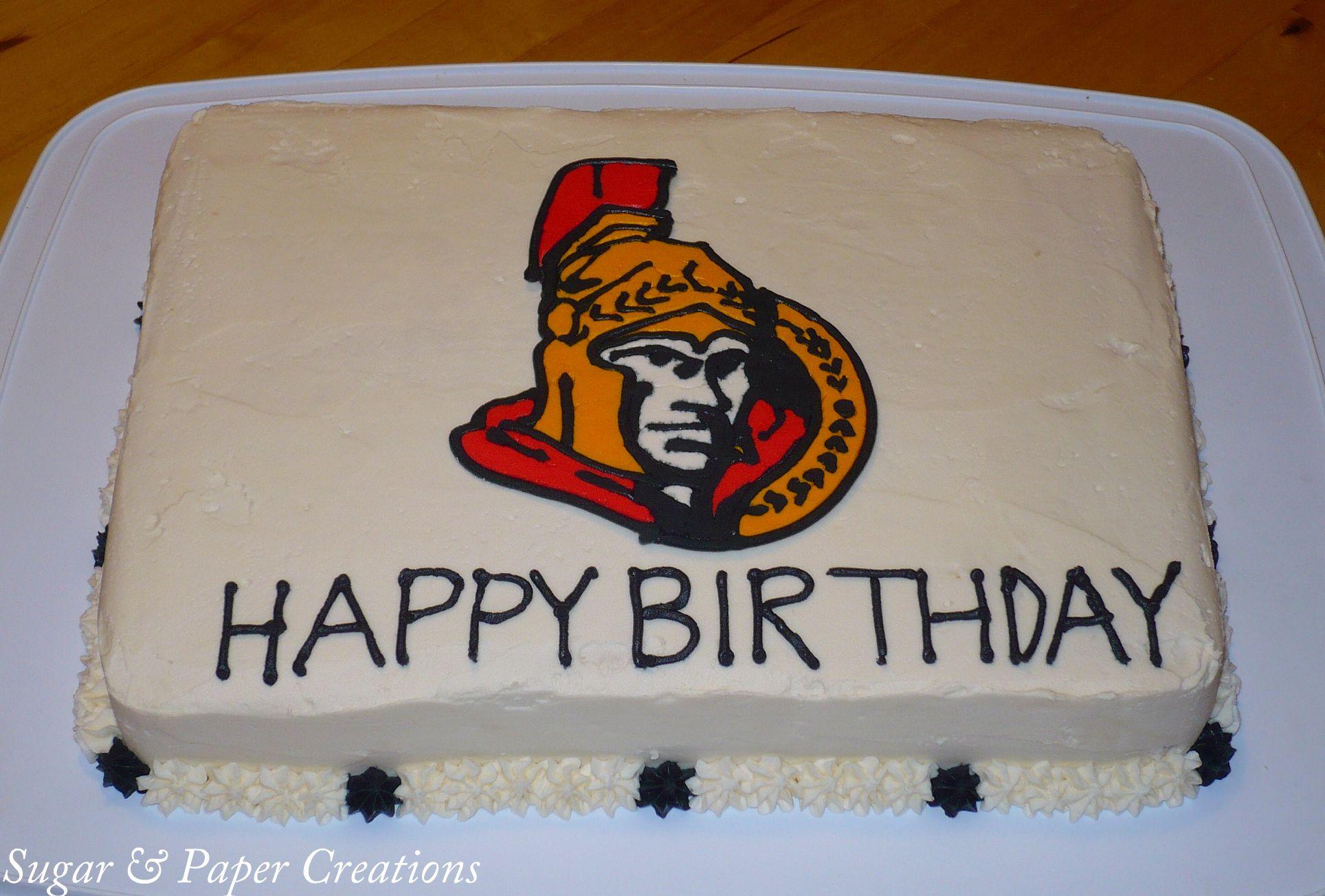 0425b66cdcf Ottawa Senators Birthday Cake | evreything | Cake, Birthday Cake ...