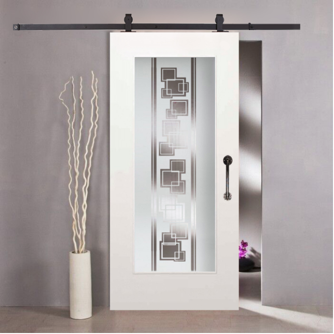 1 Lite Mdf Sliding Barn Door With Glass Insert Wgd 0011 Barndoor Slidingdoor Barndoors Door Doors Temperedglass Wo Glass Barn Doors Glass Door Barn Door