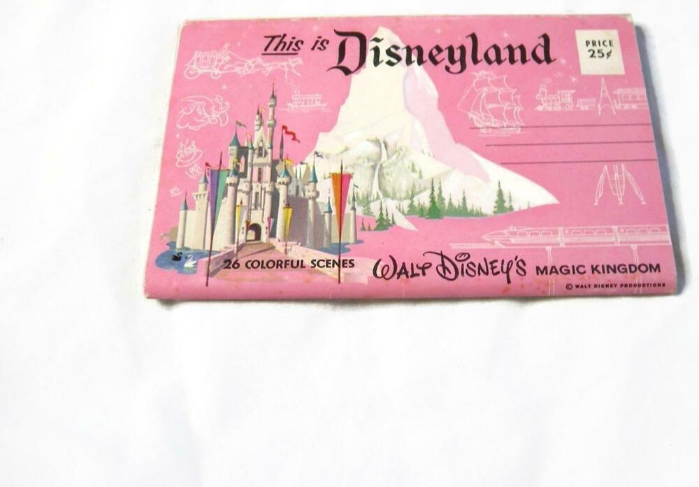 Vintage Mid Century Disneyland Fold-Out Postcard - 26 ...