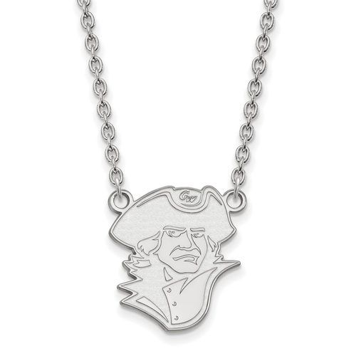 925 Sterling Silver Rhodium-plated Laser-cut The George Washington University Small Pendant