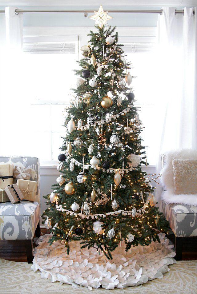 Black and White Pinterest Christmas tree, Xmas and Xmas tree - white christmas tree decorations
