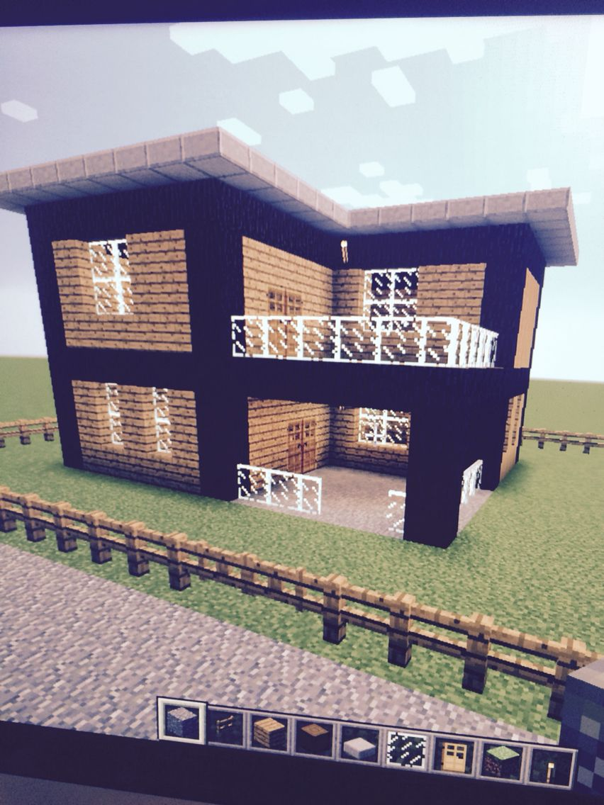 Cute easy house 8 of my world minecraft furniture for Simple modern house ideas