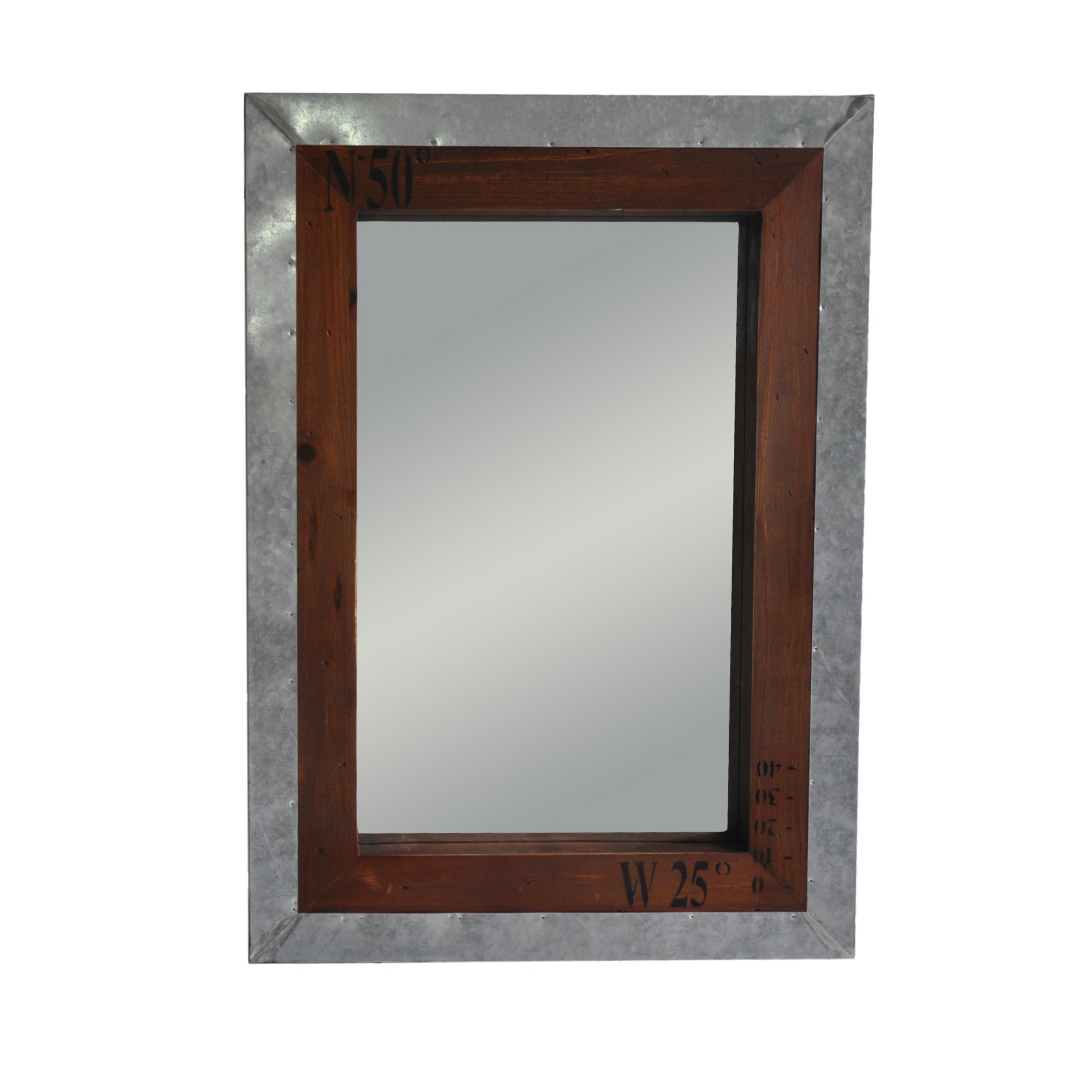 Trent Austin Design Wall Mirror With Metal And Wood Frame