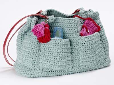 Tasche Mit Masche Pinterest Crochet Purses Crochet And Craft