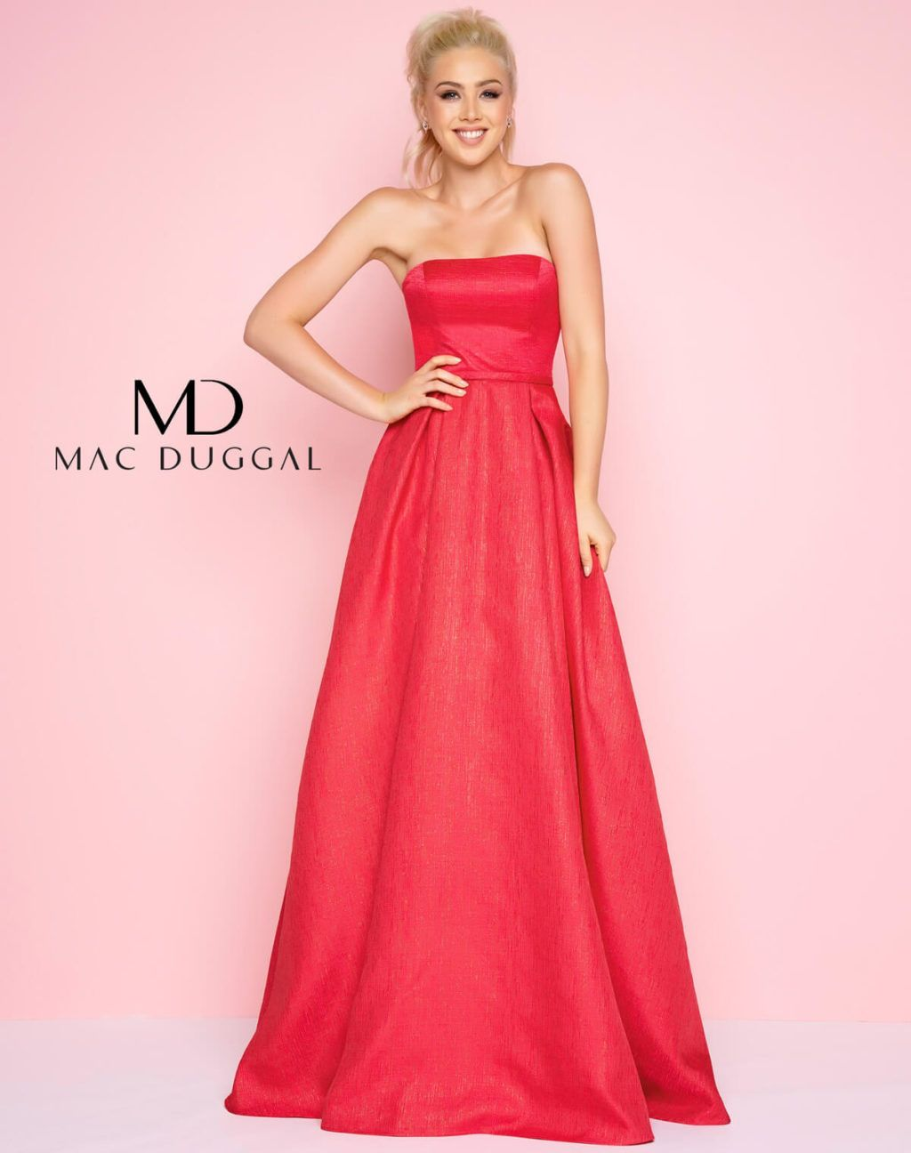 Strapless Straight Neckline prom gown - back   Prom Season   Pinterest