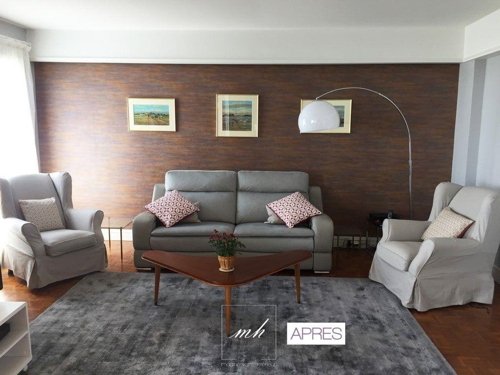 Salon moderne réalisé par nos architectes d\'intérieur normandes ...