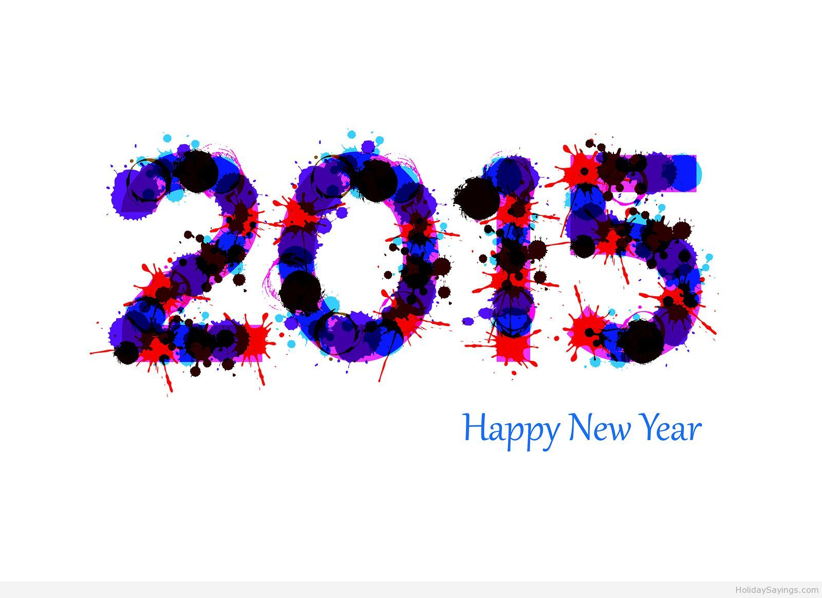 Blue Happy New Year Wish 2015 Hd Happy New Year Pinterest Website