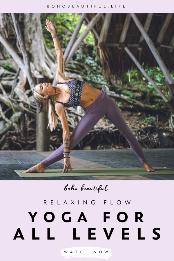 This 20 min yoga flow is everything you need to get you feeling good, relaxed, and refreshed   Boho...