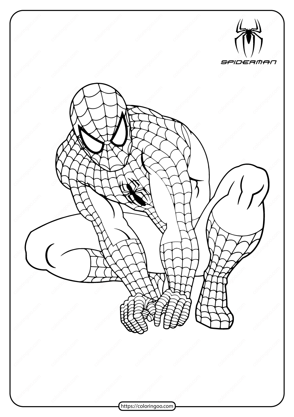 Marvel Hero Spiderman Pdf Coloring Pages Spiderman Coloring Superhero Coloring Pages Hero Spiderman