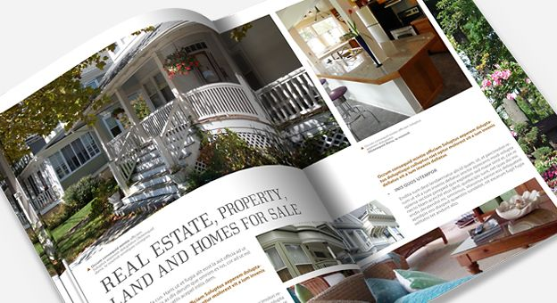 Real Estate Brochure Template  BrochuresEditorial Design