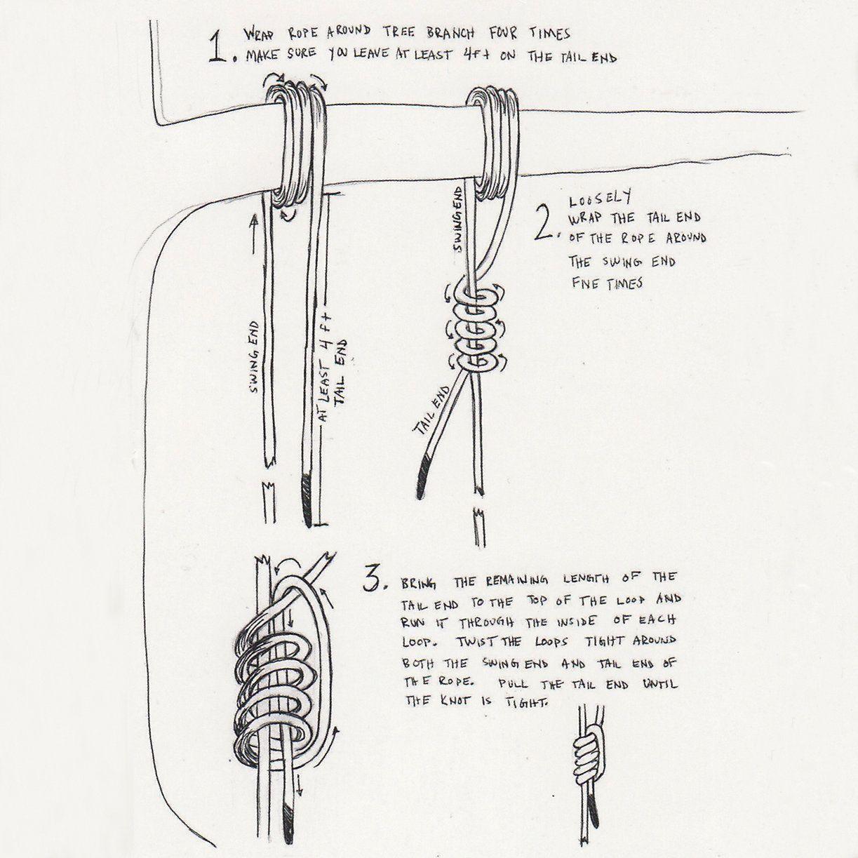 Diy Rope Swing How To Tie Tree Swing Wood Tree Swing Swing