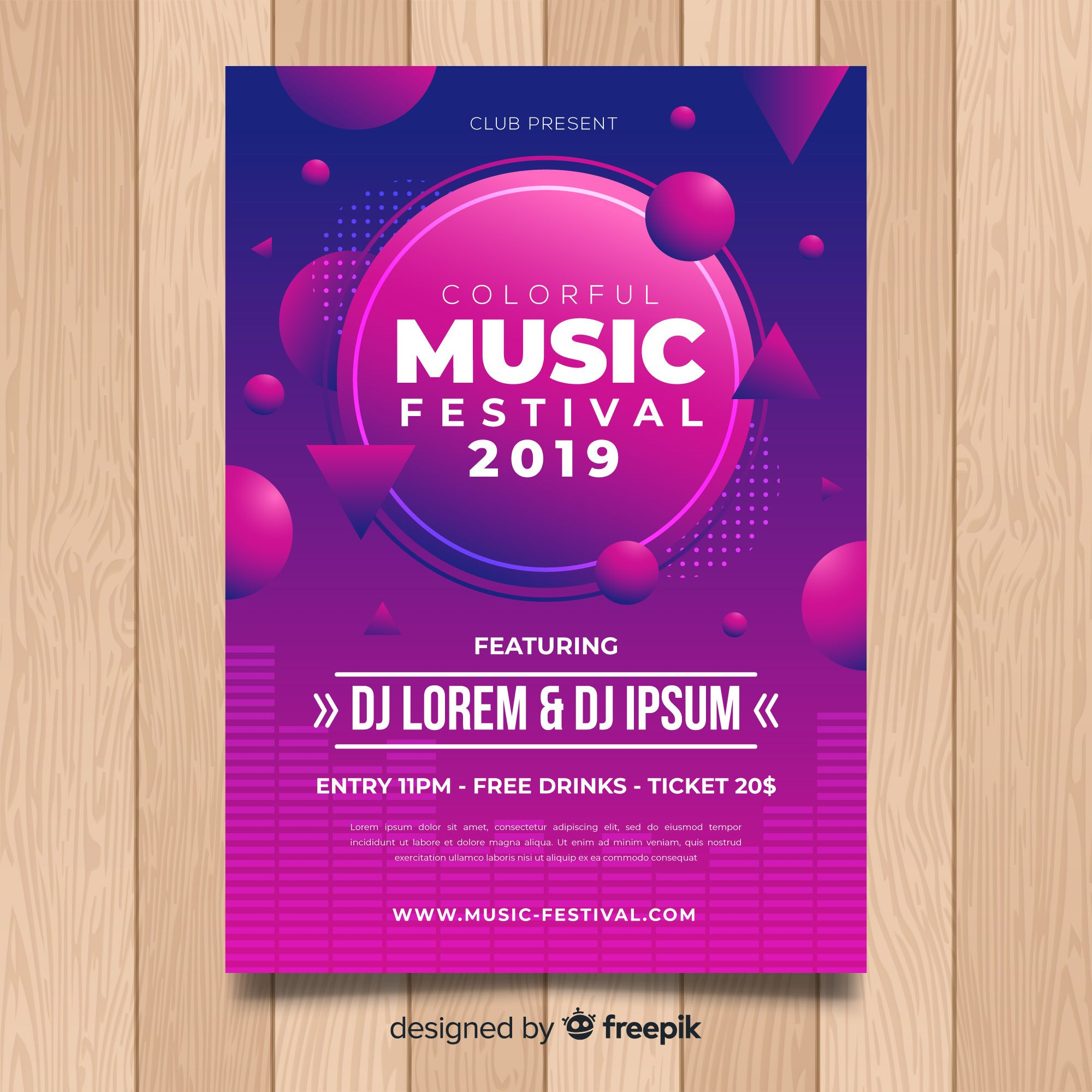 Download Colorful Music Festival Poster Template For Free Music Festival Poster Music Festival Festival Posters