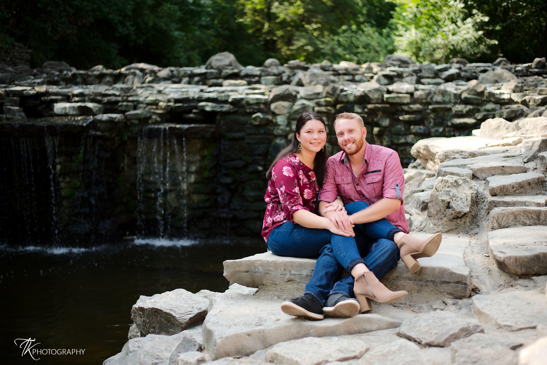 Waterfall engagement shoot at Prairie Creek Park ...