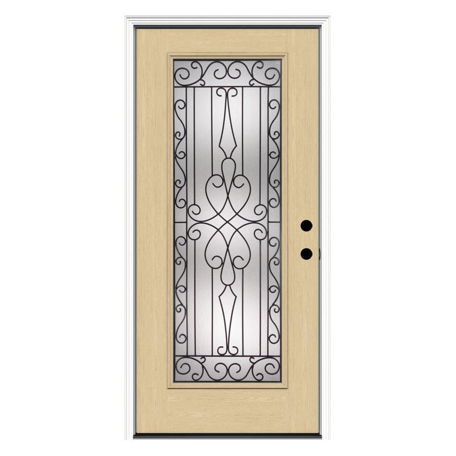 Shop Reliabilt 36 In Decorative Inswing Fiberglass Entry Door At