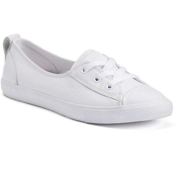 white leather slip on converse