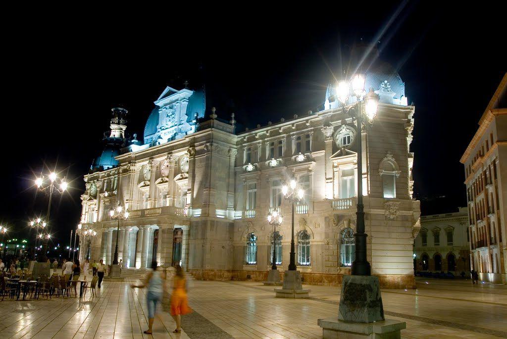 Panoramio Photo Of Palacio Consistorial Vista Nocturna Ayuntamiento De Cartagena Cartagena Palacios
