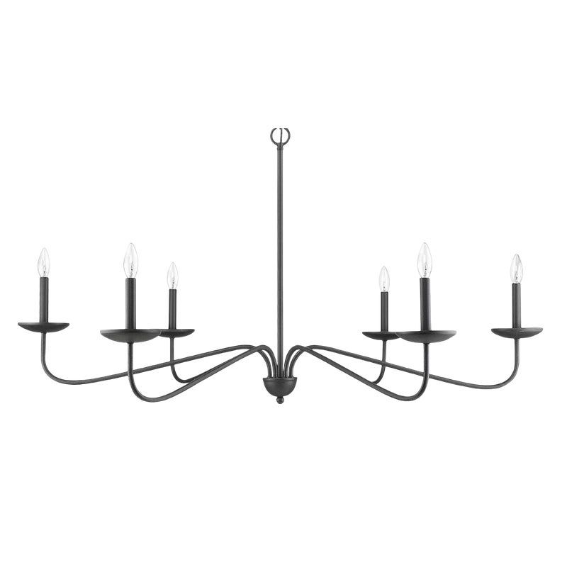 Signature 6 Light Chandelier Forged Black In 2020 Chandelier