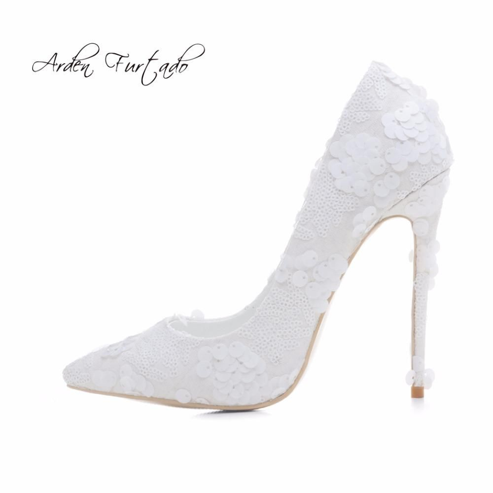 Arden Furtado new spring autumn extreme sexy high heels woman 12cm lace  flowers slip-on e7dde5d76ad0