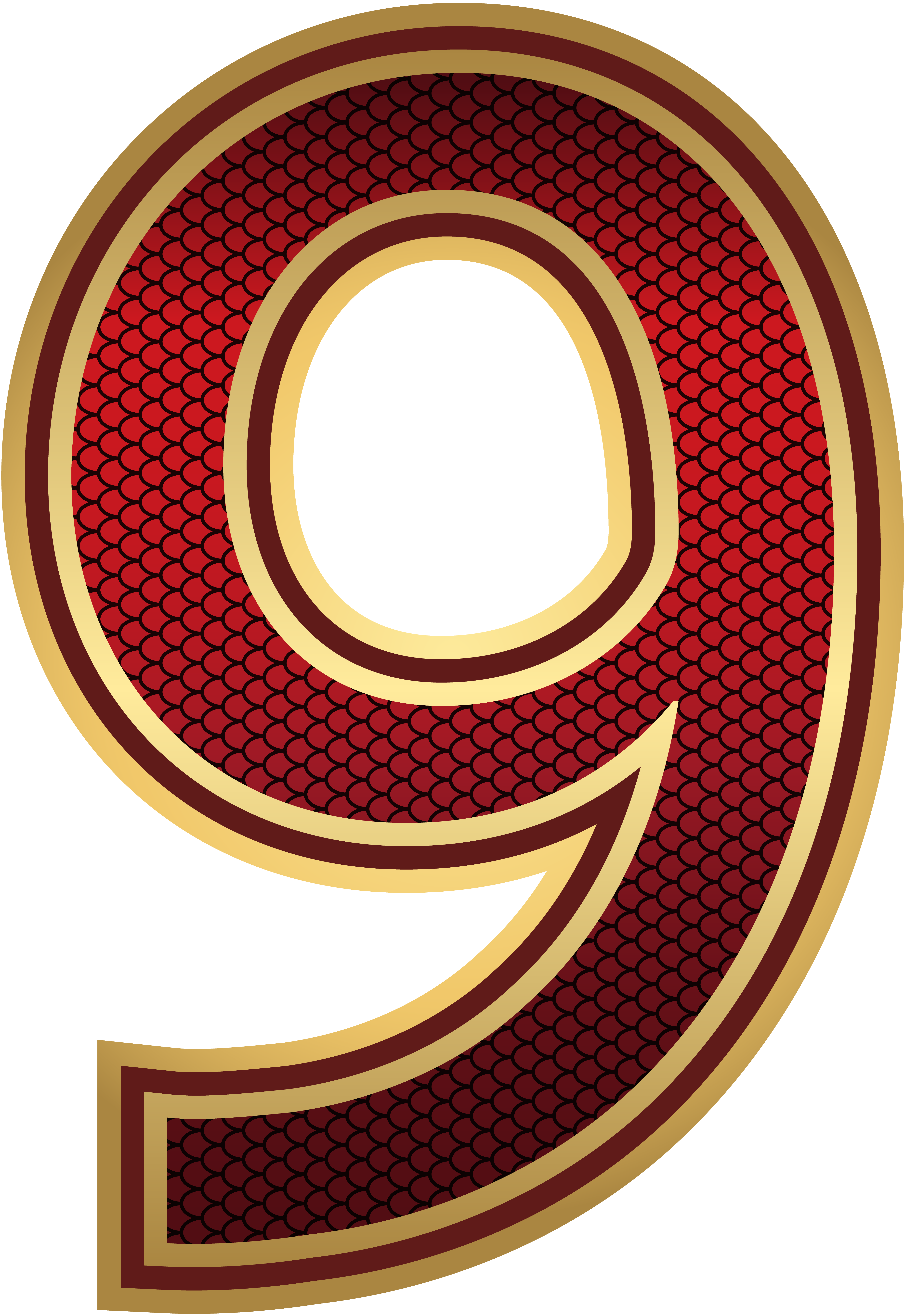 Red And Gold Number Nine Png Image Gallery Yopriceville High Quality Images And Transparent Png Free Clipart Numbers Red And Gold Free Clip Art