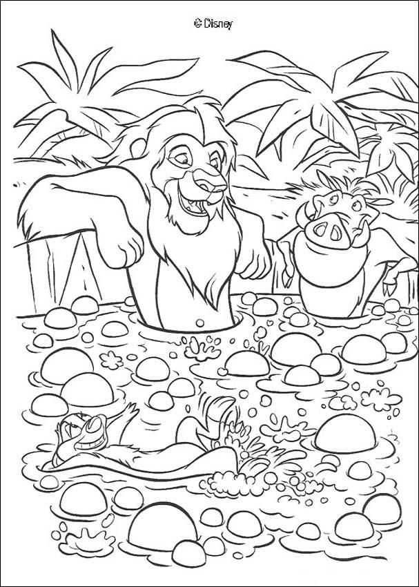 Discover This Coloring Page Of The King Lion Movies Color Simba