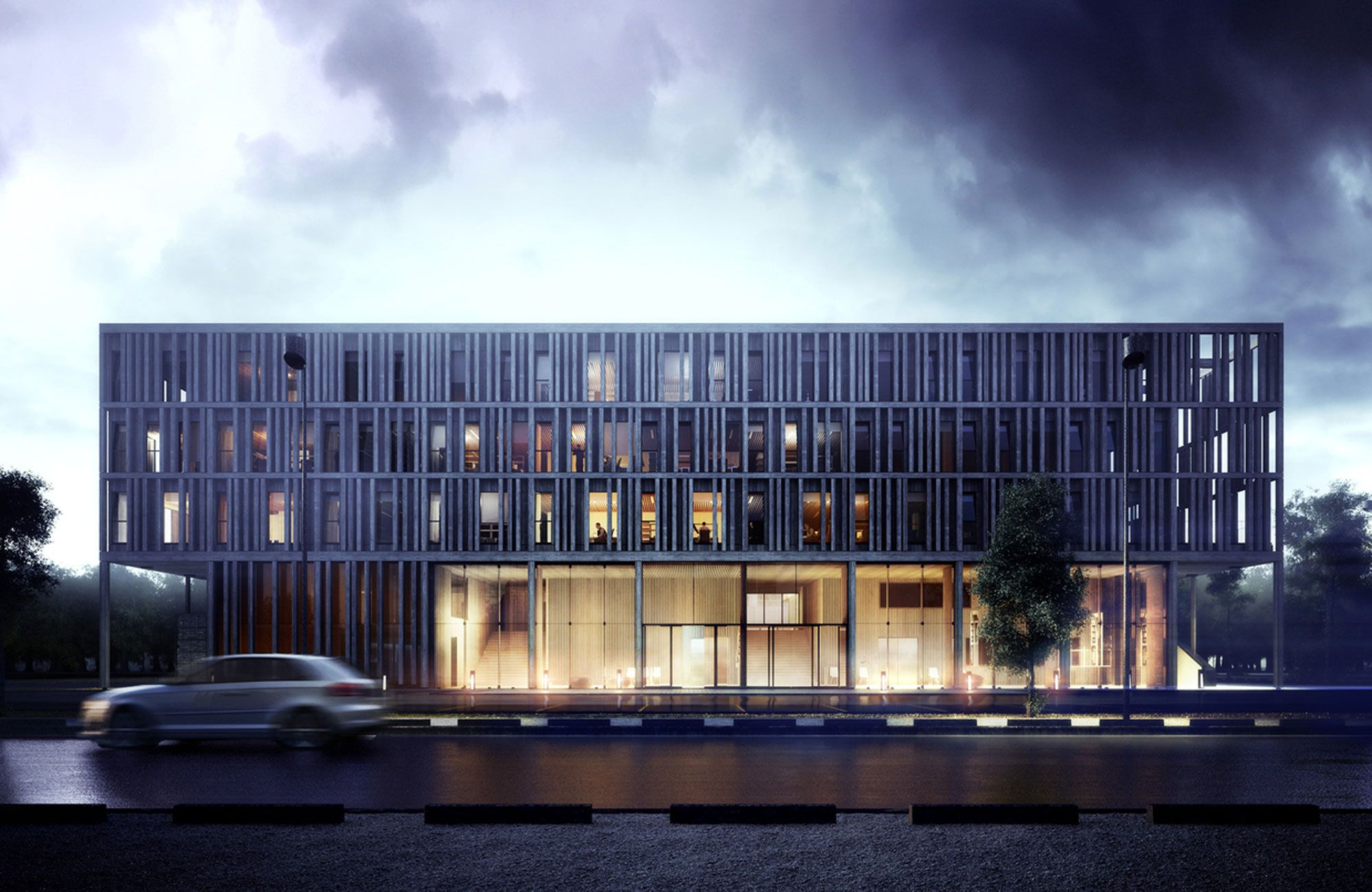 Maison Du Batiment D Aquitaine Architecture Visualization Architecture Facade Architecture