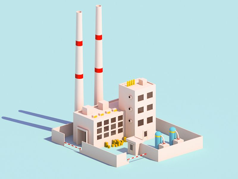 Factory Factory Design Isometric Design Currency Design