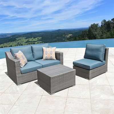 Outdoor Sofa Sets Patio Furniture, Grey Wicker Patio Furniture Set