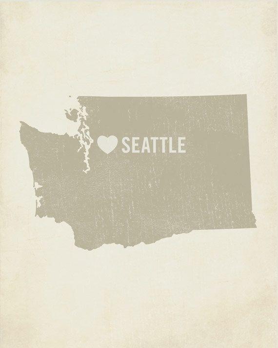 Seattle/Washington Poster