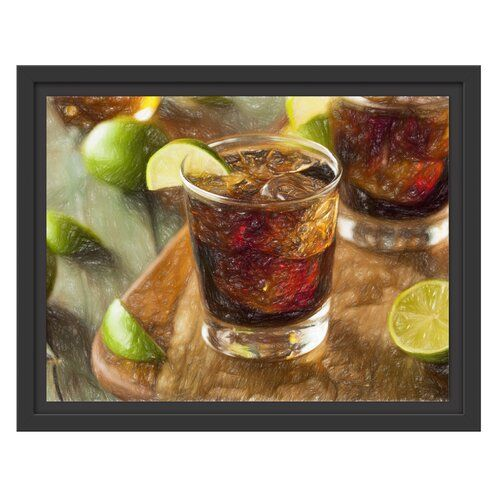 'Refreshing Cuba Libre' Framed Photographic Poster East Urban Home #cubalibre