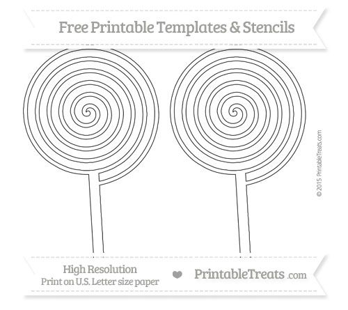 graphic about Lollipop Template Printable known as No cost Printable Hefty Swirly Lollipop Template Designs and