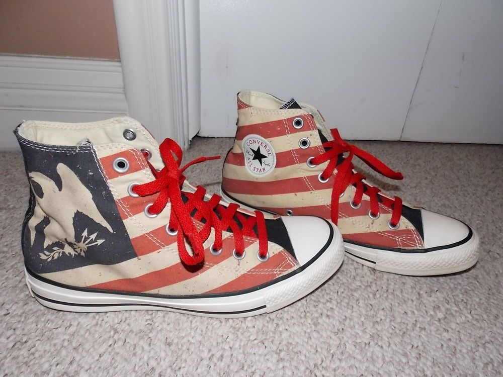 8727b247a659 Converse All Star Red White   Blue Stripe with Eagle Hi Tops  fashion   clothing  shoes  accessories  mensshoes  casualshoes (ebay link)