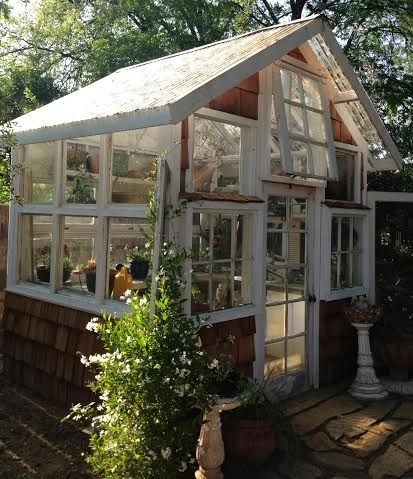 Cute Greenhouse Made From Reclaimed Windows Farm Garden