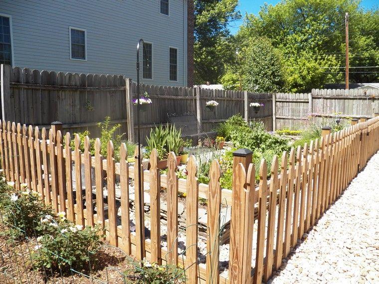 cloture de jardin pas cher diy bois