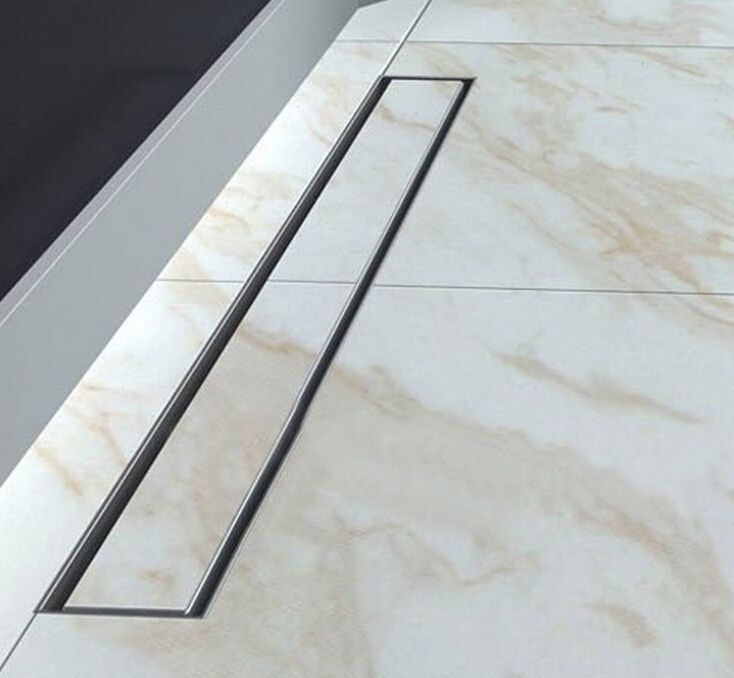 80cm Stainless Steel Linear Shower Drain 800mm Shower Drain Channel Shower Floor Drain Gate Drain 11 122 Floor Drains Coastal Bathroom Decor Shower Drain