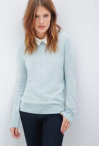 0dfe35aca Classic Crew Neck Sweater   FOREVER21 PLUS - 2000101158   Clothing ...