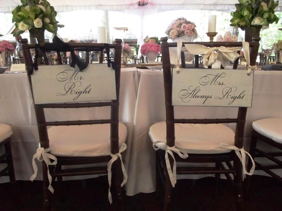 Wedding Signs Mr. Right & Mrs. Always Right by OurHobbyToYourHome ...