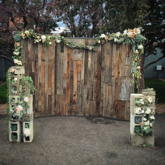 Rustic Country Diy Wooden Pallet Wedding Bakdrop Himisspuff Wood Ideas 6