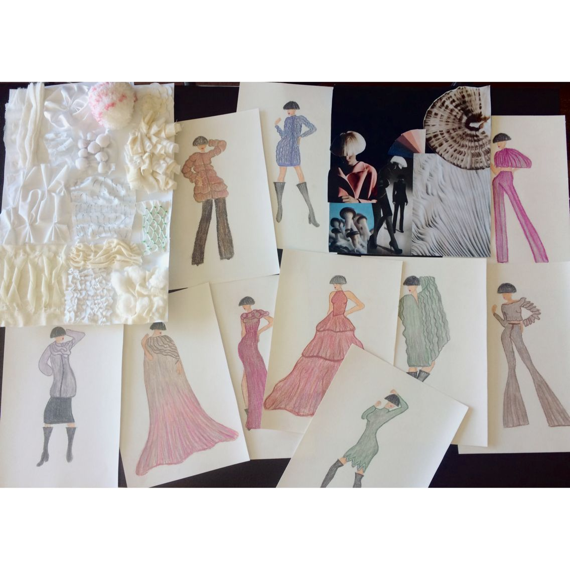 How To Make Fashion Design Collection Fashiondesign Moodboard Mushrooms Manipulation Sketch Love Mod Fashion Design Collection Mood Board Fashion Design