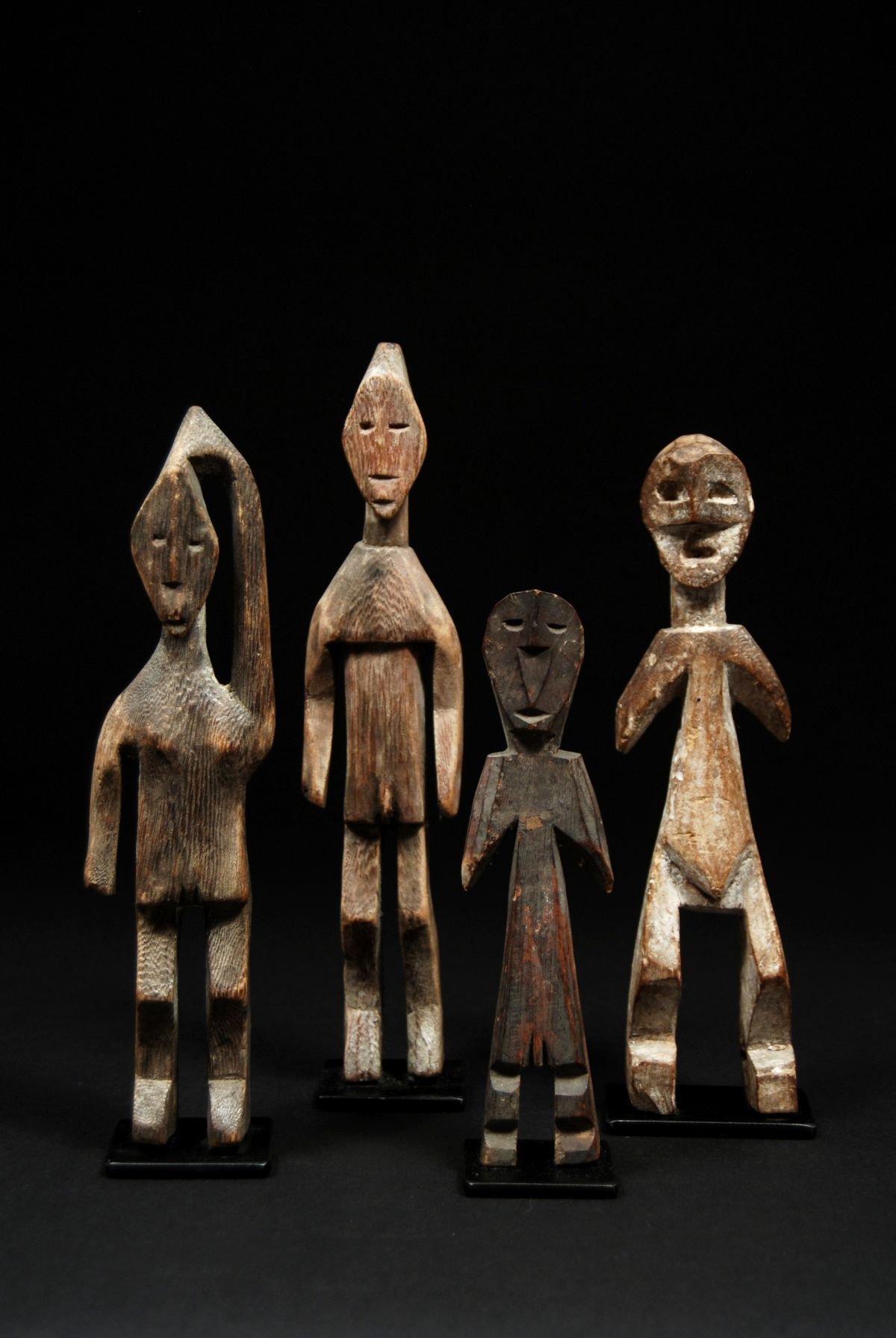 Africa | Ancestor Figures from the Adan people of Togo | Wood | 20th century