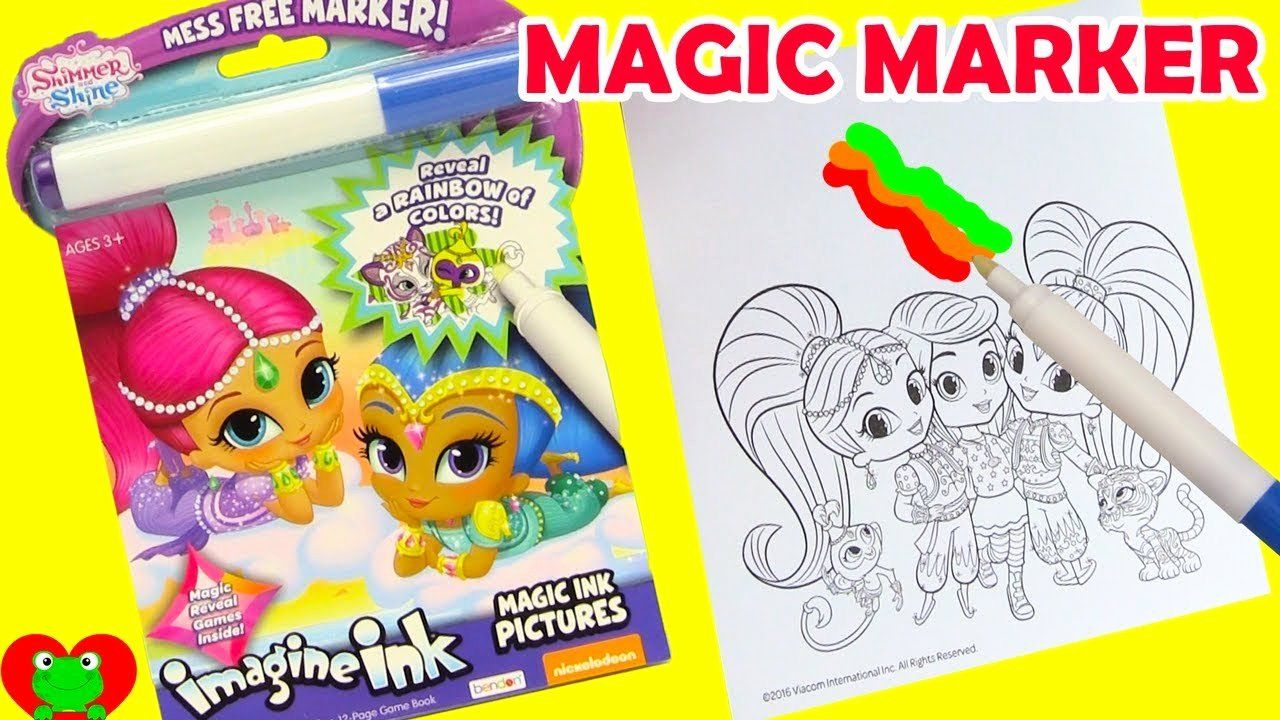 Magic Marker Coloring Book Awesome Shimmer And Shine Imagine Ink Magic Marker And Surprises Millie Marotta Coloring Book Toddler Coloring Book Coloring Books
