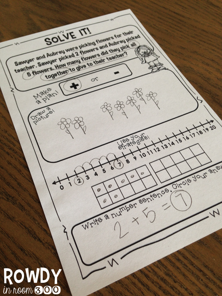 addition story problem freebie- using many different strategies ...