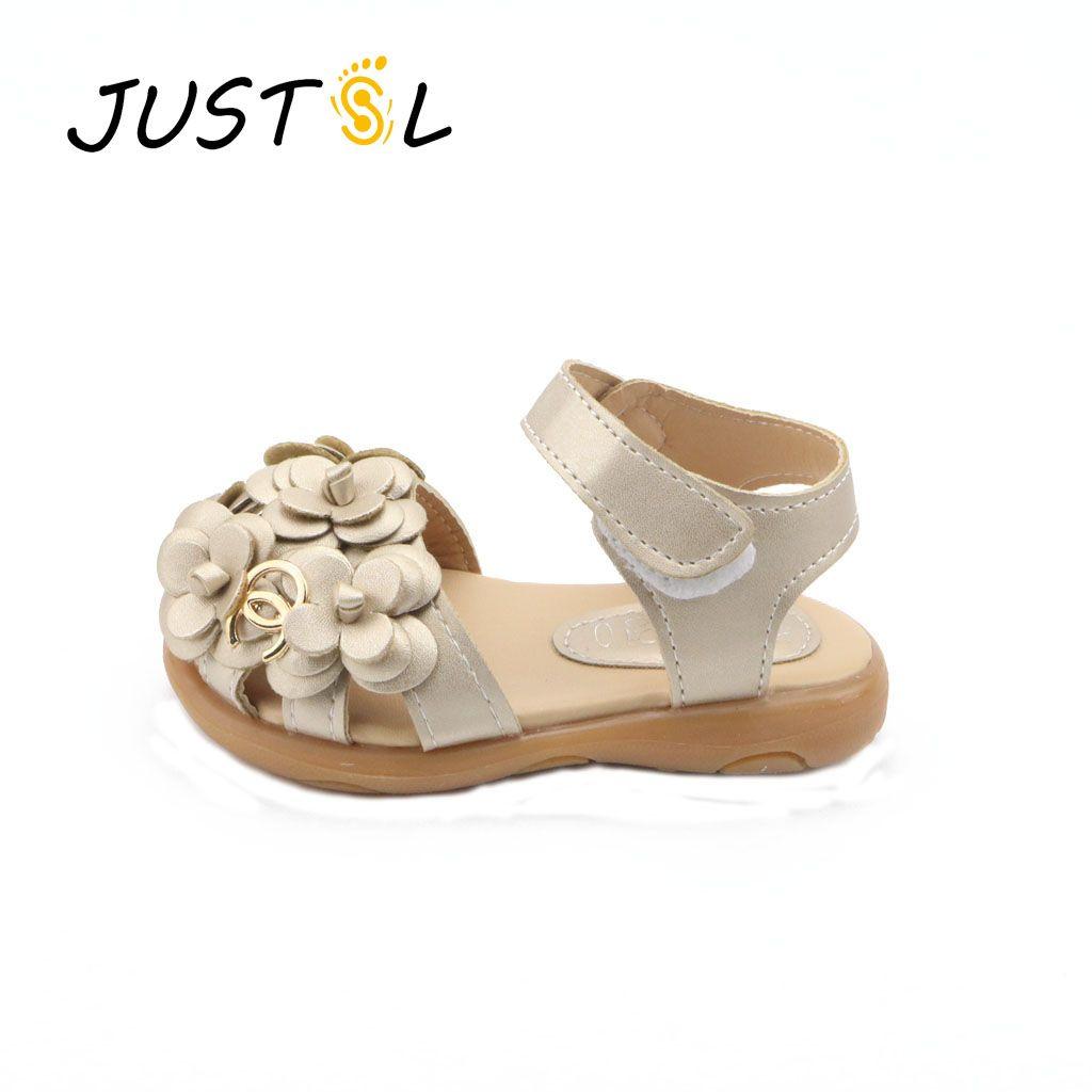 985ebb4f5419e acheter JUSTSL Enfants chaussures Filles 2017 Nouvelle Femelle D été Enfant  Filles Sandales Fleur PVC