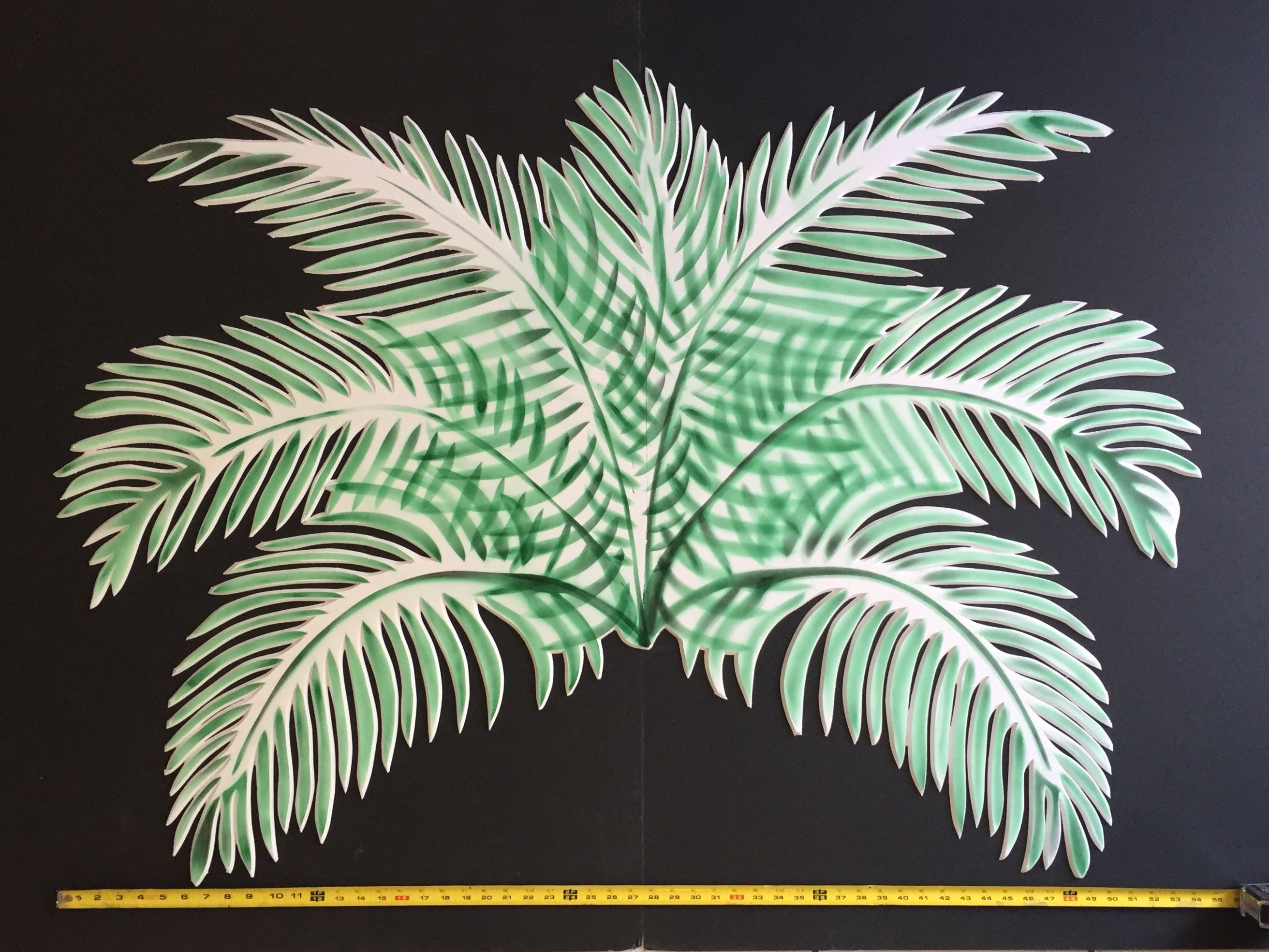 PACIFIC PARADISE Palm tree leaves cutout 56x40, homemade ...